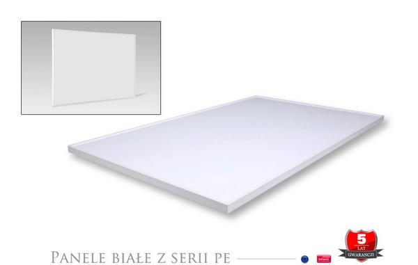 Panele w białych ramkach seria PE Plus